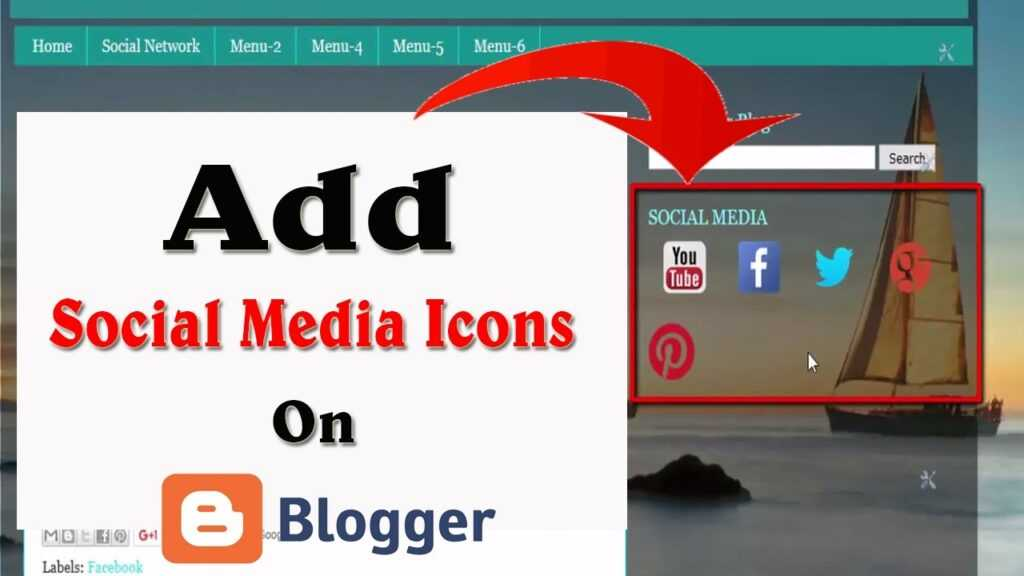 How To add Social Media Icons in Blogger 2020 1