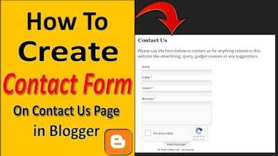 Add Contact Form on Contact Us Page in Blogger 2021