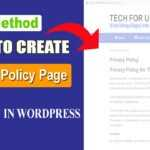 How to create Privacy Policy Page For Your Website