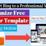 How to customize blogger template Like a Pro - Step by Step Tutorial For Beginners