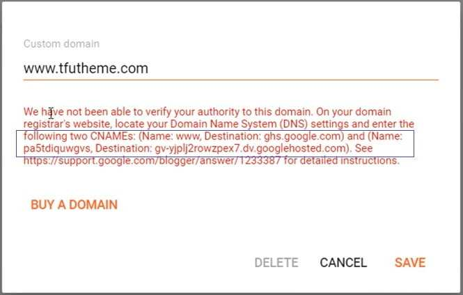 How To Use Custom Domain With Blogger