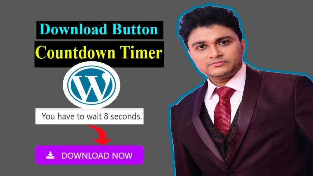 add Download button with Countdown timer in WordPress